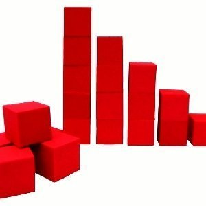 "Isellfoam Foam Pits Blocks/Cubes 20 pcs. (RED) 5""x5""x5"" (1536) Pit Foam Blocks/Cubes For Skateboard Parks, Gymnastics Companies, and Trampoline Arenas"