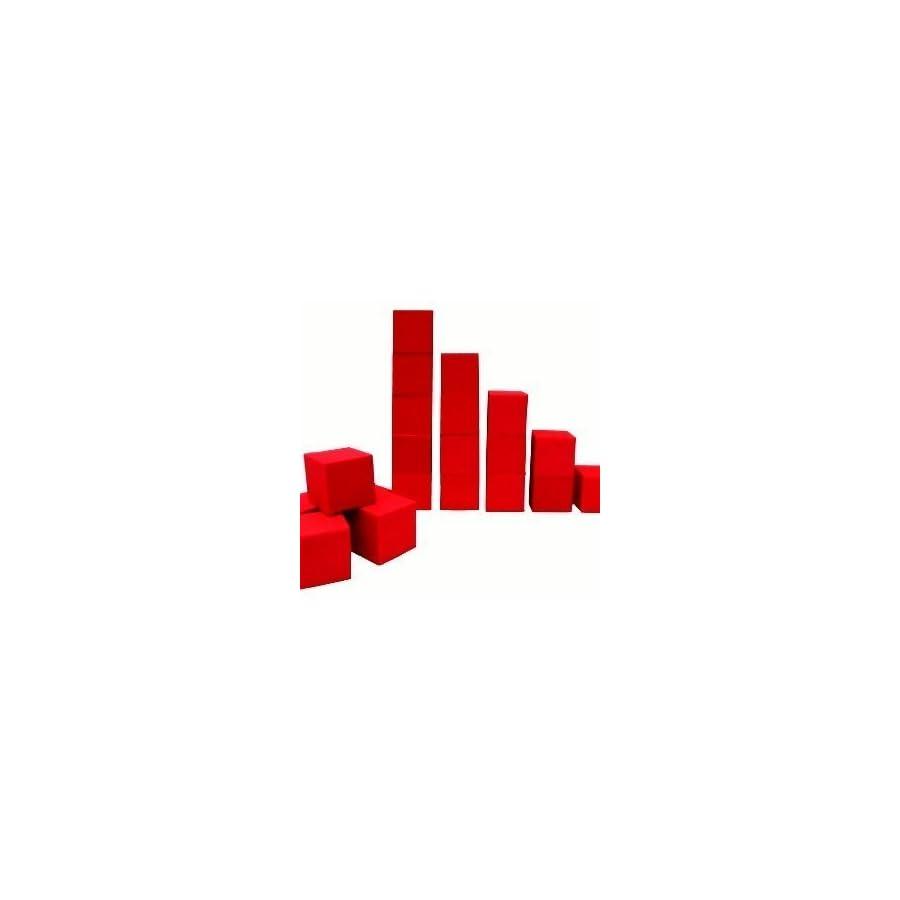 "Isellfoam Foam Pits Blocks/Cubes 20 pcs. (RED) 5""x5""x5"" (1536) Pit Foam Blocks/Cubes For Skateboard Parks, Gymnastics Companies, and Trampoline Arenas"