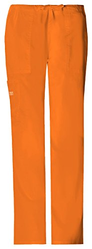 Flare Cargo Jeans - Cherokee Women's Classic Fit Drawstring Cargo Pant_Pumpkin_X-Small,4044P