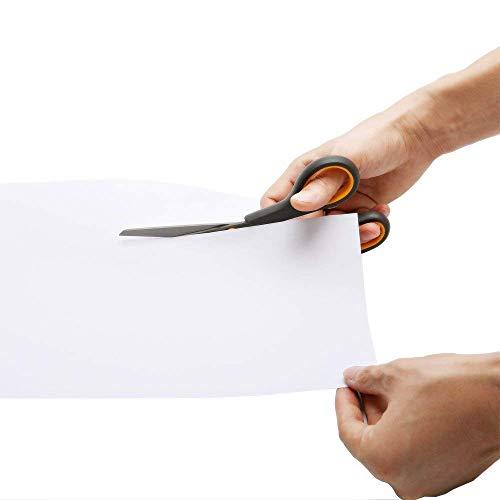 CCR Scissors 8 Inch Soft ComfortGrip Handles Sharp Titanium Blades 4Pack