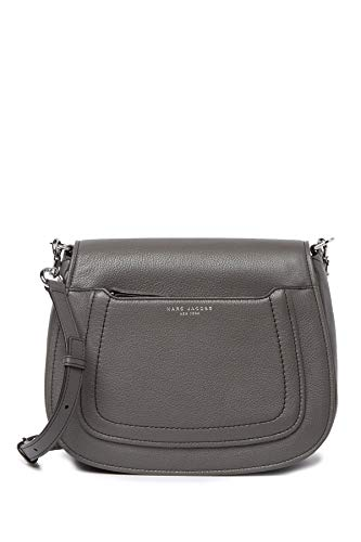 Marc Jacobs Empire City Messenger Leather Crossbody Bag Grey
