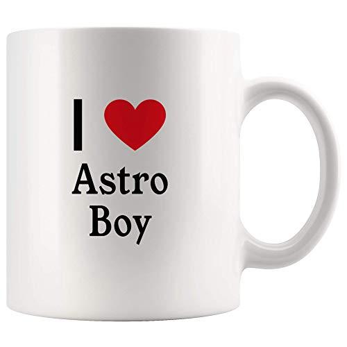 I Love Astro Boy Tea and Coffee Mug: 11oz Tea and Coffee Mug Merchandise For Fans Of Astro Boy! ()