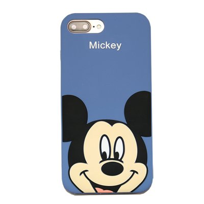 premium selection f400d 52061 Slim Fit Soft Silicone Blue Mickey Mouse Case for iPhone 7+ 7Plus 5.5