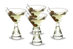 Periodic Tableware Erlenmeyer Flask Martini Glasses Clear