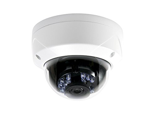 Monoprice HD 1080P TVI Dome Camera Vandal Proof - White with a 2.8mm Fixed Lens, 24 Smart IR LEDs up to 65ft and IP66 Waterproof Rating