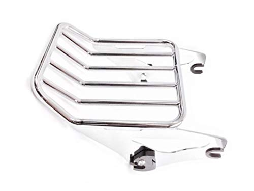 Chrome Detachable Two Up Luggage Rack Mount Rear Carrier for Harley Davidson Touring like Street Glide Road King Quick Release ref 54215-09A