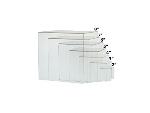 Marketing Holders Clear Acrylic Riser Set Perfect Display Stands Qty 1, 7 Piece Riser by Robert H Ham