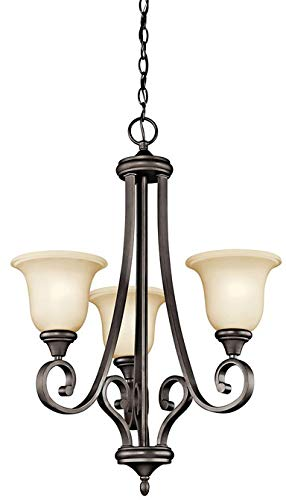 Kichler 43155OZL18 Transitional LED Chandelier from Monroe Collection in Bronze//Dark Finish