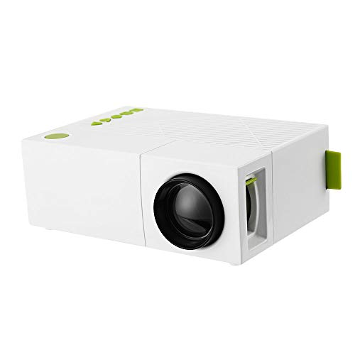 QianBaiHui Mini Projector Portable HD 600 Lumen 320×240 1080P AV USB Video LED Projector HDMI Devices Home Cinema Theater Great Gift Pocket Video Media Player for Party Game and Outside Camping