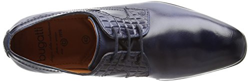 Bugatti 311252022100, Zapatos de Cordones Derby para Hombre Azul (Dark Blue 4100)