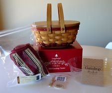 Longaberger 2004 Gumdrop RED Tree Trimming Super Set