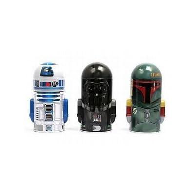 Star Wars Shaped Molded Coin Banks: Darth Vader, R2-D2, Boba Fett -Tin Coin Piggy Bank Set of (3) Tin Coins Banks: Toys & Games