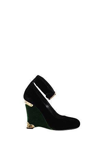 Oro 1I184HNEROALLORO Cuñas y Prada Mujer Negro 40EU Verde Velvet Negro YY6PHwq