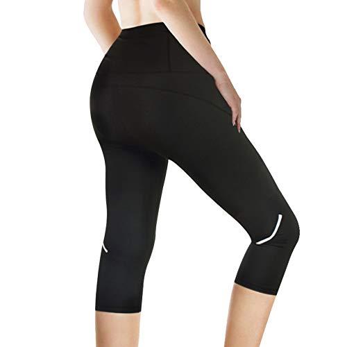 aeec80a481b0cc Rolewpy Yoga Capri Workout Leggings for Women High Waist Tummy Control, Running  Pants for Summer