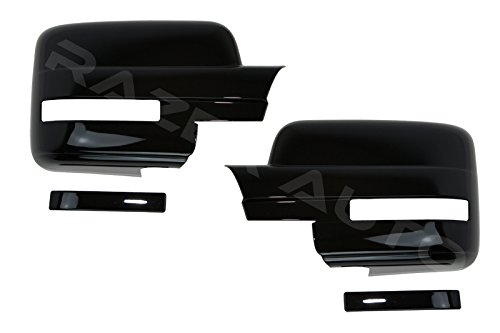Razer Auto Glossy Black Full Mirror Cover With Or Without Light for 09-14 Ford F150