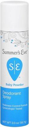 SUMMER'S EVE Feminine Deodorant Spray-Baby Powder-2 oz (Quantity of 5)