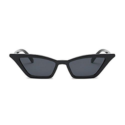 Oscuro vintage Gris plástico pequeñas de marco Gafas Inlefen Gafas de retro vintage de Gafas sol gato mujeres sol ojo de UtTRHRcB
