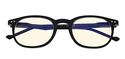 Vintage Computer Reading Glasses Blue Light Filter Anti Eyestrain Eyeglasses(Black) +2.25