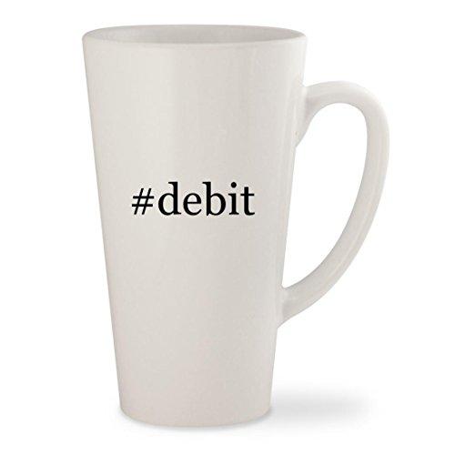 #debit - White Hashtag 17oz Ceramic Latte Mug Cup