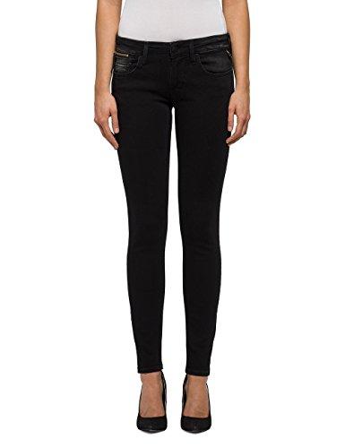 REPLAY Luz Coin Zip, Jeans Ajustados para Mujer Negro (Black 7)