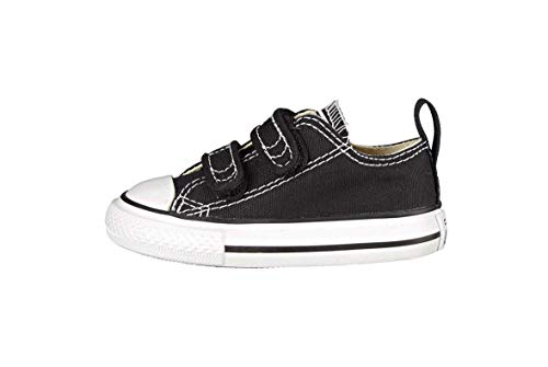 Converse Boys' Chuck Taylor All Star 2V Low Top Sneaker, Black, 7 M US Toddler