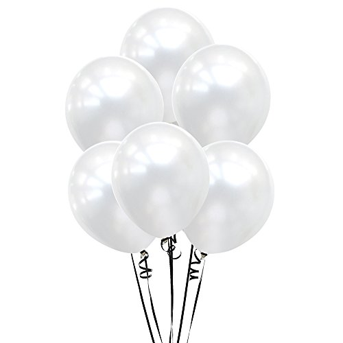 Price comparison product image 12 Inch Pearl White Balloons,For Wedding Birthday Party Baby Shower Decor,100 Count