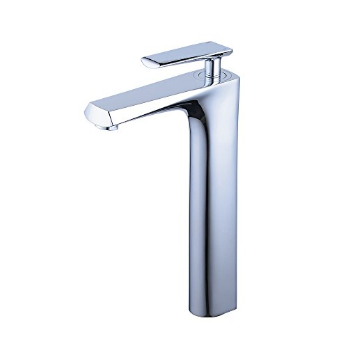 Beelee bathroom faucet for vessel sink,Chrome,single handle,one hole - 10 Plated Electronic Faucet