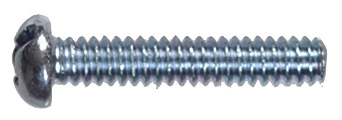 Hillman Machine Screws No. 10 - 32 X 1-1/4 '' Zinc Combination/Phillips/Slotted Round Head Box 100 by The Hillman Group