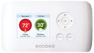 ecobee EB-EMSSi-01 2 Heat 2 Cool Energy Management System Busness/Commercial Thermostat, Full Color NON-Touch Screen, Internet Enabled