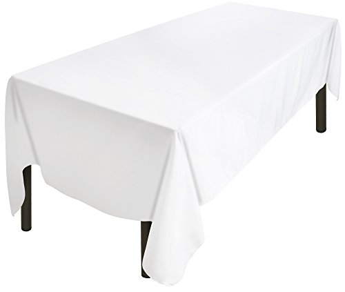 Utopia Kitchen Tablecloth 60 x 102-Inch White Tablecloth 100 present Polyester Rectangular Table Cover