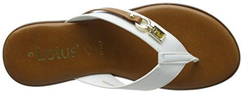 Lotus Women's Zorzi T-Bar Sandals White (White Patent) jvJA8UhR