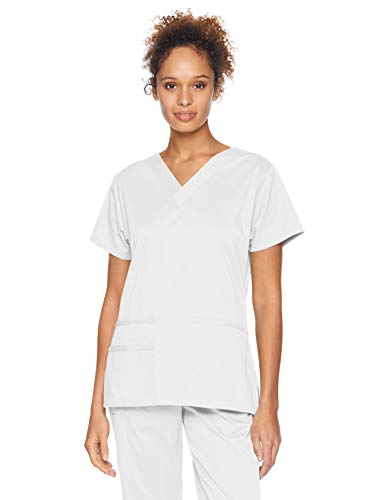 Top Scrub Nurse - Amazon Essentials Women's Quick-Dry Stretch Scrub Top, White, XX-Large