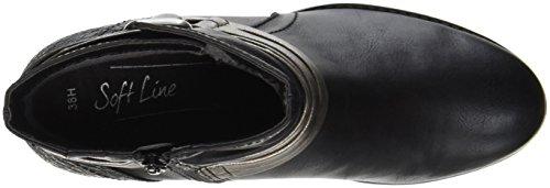 Softline Damen 25369 Stiefel Schwarz (Black)