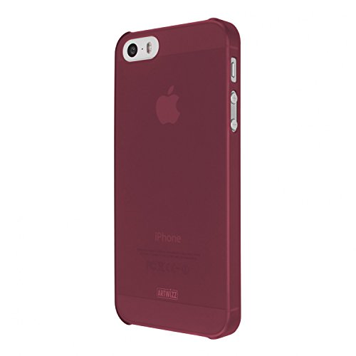 Artwizz 8300-1598 Rubber Clip Hülle (geeignet für Apple iPhone SE und iPhone 5/5S) berry