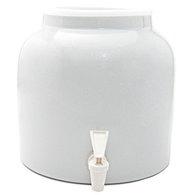 Goldwell Designs Solid Color Water Dispenser Crock in White