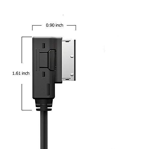 000-051-446-D ELONN Compatilbe iPod iPhone MDI Adapter Replacement for Volkswagen 3.5MM Auxiliary Jack MDI Adapter Cable