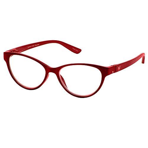 (Bunny Eyez Raquel Wearable, Tilt-able, Flip-able Women's Reading Glasses - Sparkle Ruby Red (+1.50))