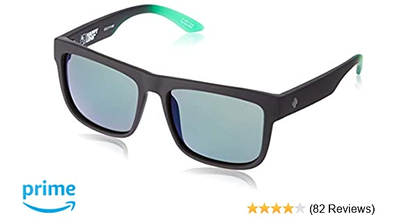 ca55054190 Amazon.com  Spy Optic Discord Polarized Flat Sunglasses (Black with Green  Flash)  Spy  Clothing