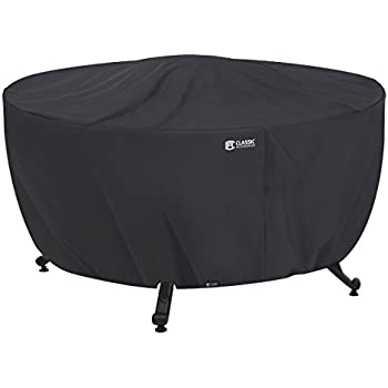 Superieur Classic Accessories 55 554 010401 00 Round Fire Table Cover, Black