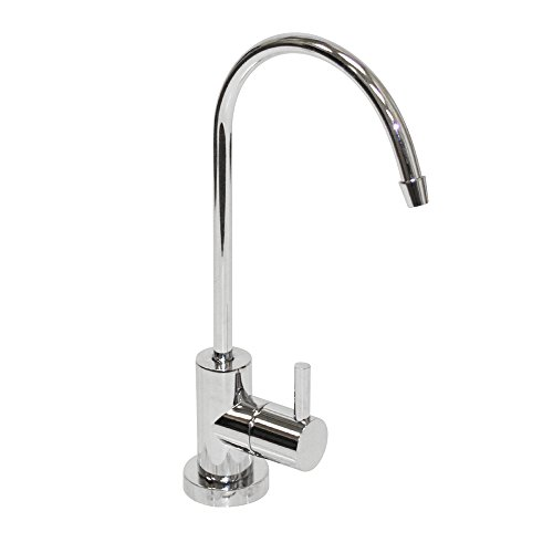 Puroflo Kitchen/Bar Sink Drinking Water Faucet, Chrome Plated, NSF Certified, Lead-Free, Non-Air Gap for Under-Sink Reverse Osmosis Systems, FLR-878CP, 1 Pack