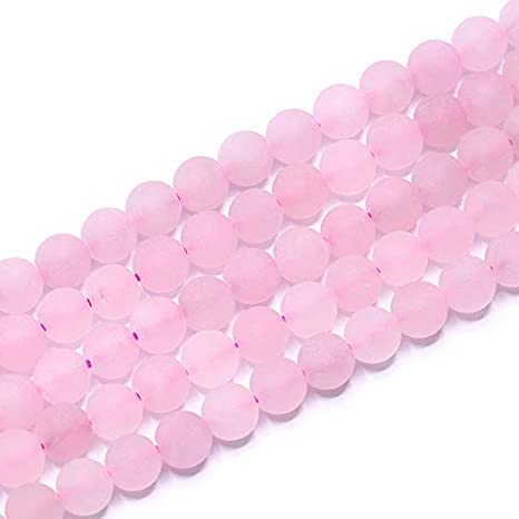 Pcs Gemstones DIY Jewellery Making Crafts Rose Quartz Round Beads 8mm Pink 20