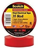 3M 35 RED (3/4''X66FT) TAPE, INSULATION, PVC, RED, 0.75INX66FT (10 pieces)