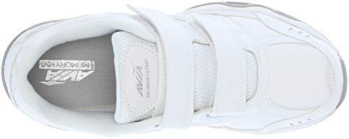 blanco II de AVI Zapatillas Mujer para Avia Alimentos Servicio de plateado Strap cromo Union UxB6twqP