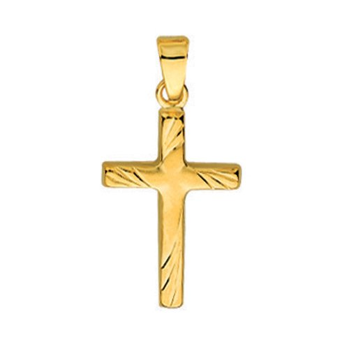So Chic Bijoux © Pendentif Croix Diamantée Or Jaune 750/000 (18 carats)