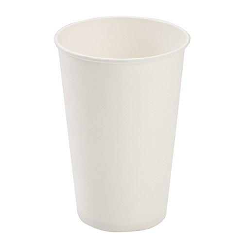 Dopaco DOPD16HCW Paper Hot Cups, 16 Oz, White, 50/bag, 20 Bags/carton Dopaco White Paper