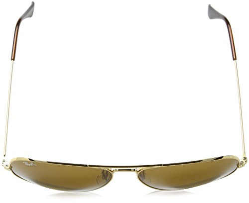 de Crystal Marron RB3025 Aviator mm Soleil Aviator Lunettes Metal 55 Arista Ray Ban q7COEE