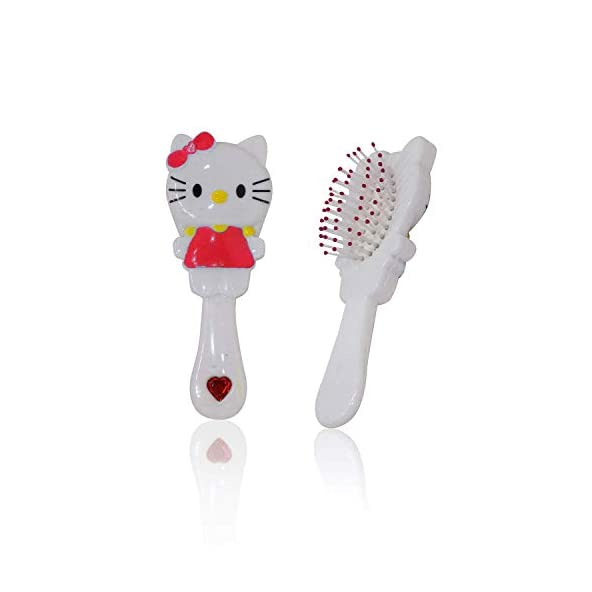 AASA Soft Bristles Paddle Hair Brush for Travelling Use Eco-Friendly Detangling Hairbrush for Kids Multicolor Pack of 1