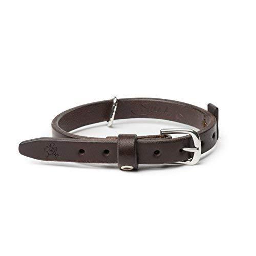 Saddleback - Collar de Piel para Perro, Resistente y granulado, para el Cuello y Caminar, Incluye 100 años de garantía,...