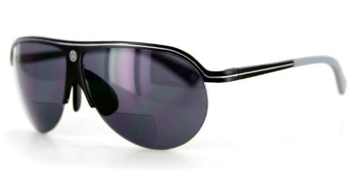 Bahamaz Bifocal Aviator Sunglasses -Optical & Prescription-ready Aluminum Frames(Black/Grey w/ Smoke - Prescription Sunglasses Online Bifocal