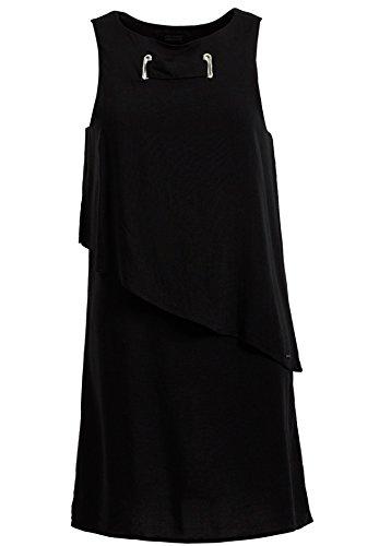 Para Camisas Khujo Sin Negro Liso Redondo Mujer Mangas wRqO4